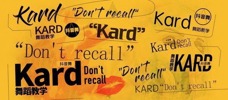 抖音舞《don't recall》(kard)